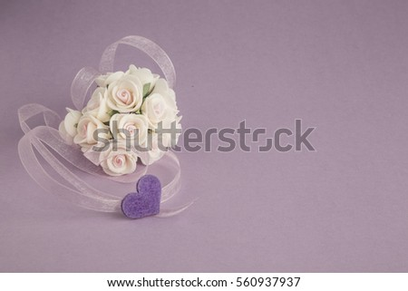 template with rose and ribbon #560937937