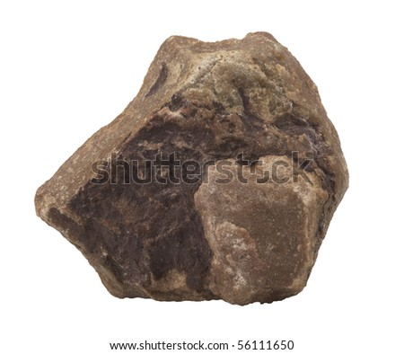 stone Granite,isolated on white with clipping path #56111650