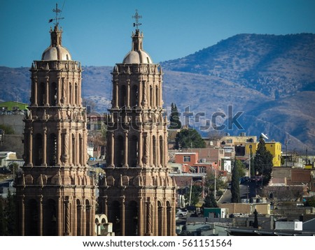 Chihuahua-Mexico. Cathedral's towers