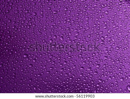 water drop in purple background