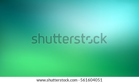 Abstract green and blue blurred gradient background with light. Nature backdrop. Vector illustration. Ecology concept for your graphic design, banner or poster Royalty-Free Stock Photo #561604051