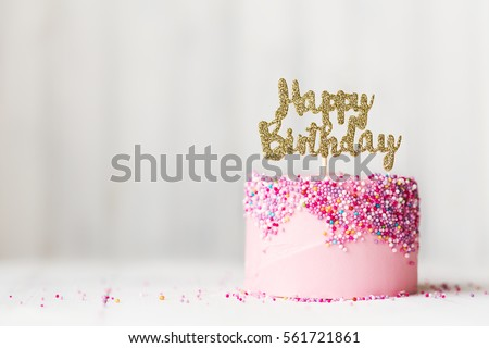 Happy birthday cake Royalty-Free Stock Photo #561721861