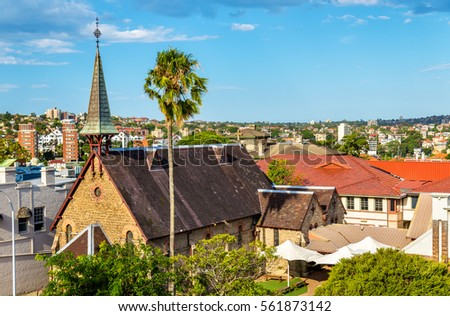 Church by the Bridge in Kirribilli on the North Shore of Sydney - Australia, New South Wales Royalty-Free Stock Photo #561873142