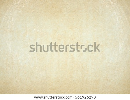 empty old vintage paper background in frame. Weathered and ancient Kraft Paper texture #561926293