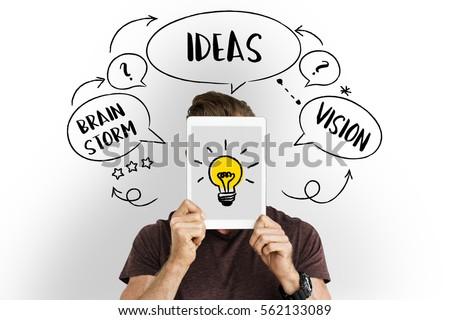 Fresh Ideas Creative Innovation Light bulb #562133089