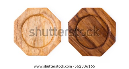 Saucer Wood isolated on white background #562336165