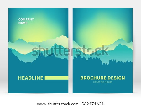 Brochure cover template vector. Presentation abstract  blurred background for poster. Layout in A4 size #562471621