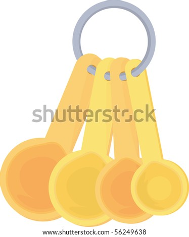 Illustration of Bunch Of Spoons on white background #56249638
