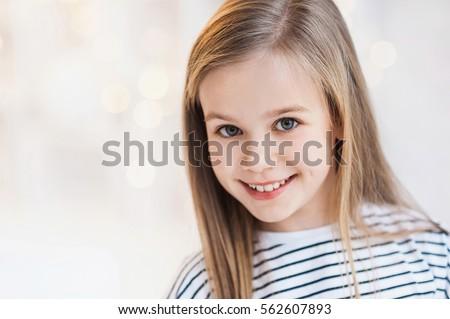 Beautiful smiling little girl portrait