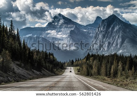 Road to the great mountain Royalty-Free Stock Photo #562801426