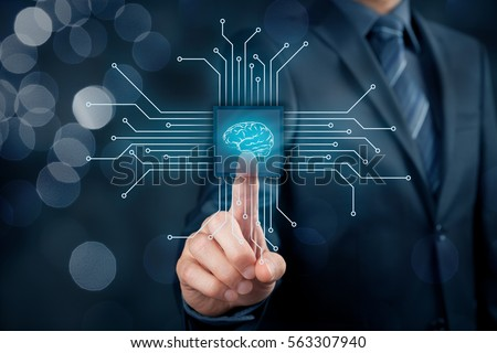 Artificial intelligence (AI), data mining, expert system software, genetic programming, machine learning, neural networks, nanotechnologies and another modern technologies concepts. #563307940