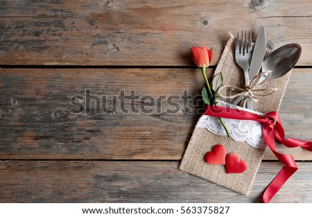 Romantic meal valentines day background #563375827