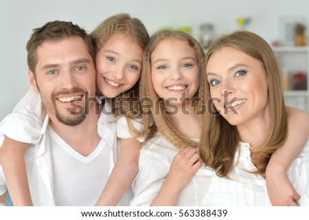 portrait of happy family #563388439