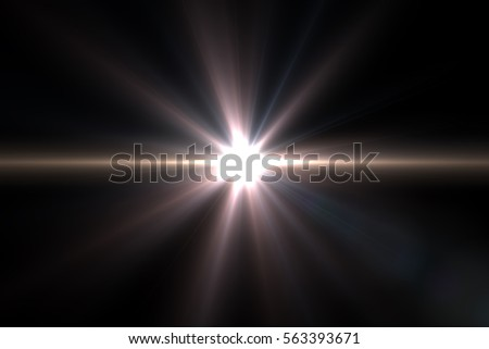 Abstract sun burst with digital lens flare background.Easy to add overlay or screen filter over Photos #563393671