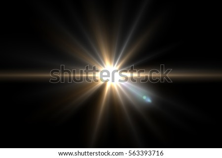 Abstract sun burst with digital lens flare background.Easy to add overlay or screen filter over Photos #563393716