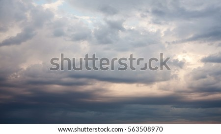Dramatic storm sky background. Royalty-Free Stock Photo #563508970