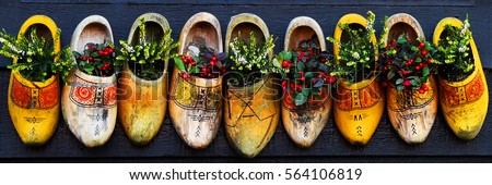 Decorations in the village of Zaanse Schans, Holland #564106819
