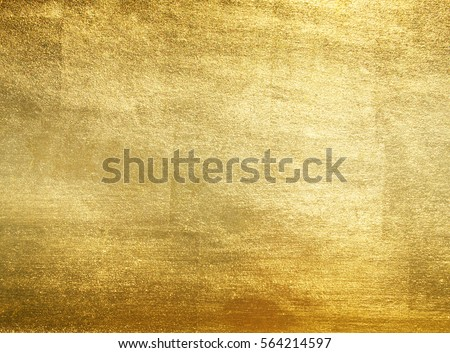Shiny yellow leaf gold foil texture background #564214597