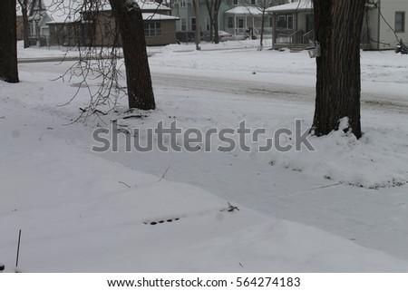 Snowy Sidewalk #564274183