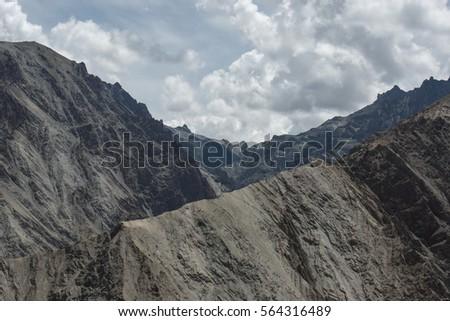 View of  Mountain Range Landscape, Leh Ladakh , India #564316489