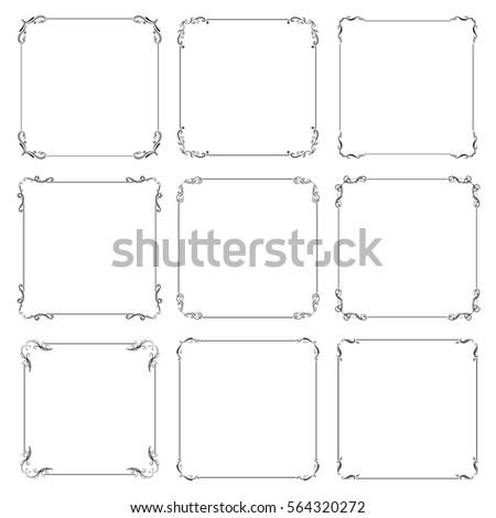 vector set of decorative vintage frame #564320272