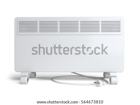 Home equipment for heating - electric convector. High quality 3d illustration isolated on a white background. #564673810
