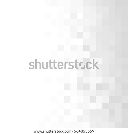 Abstract gray white background with mesh of squares. Mosaic. Geometric template.