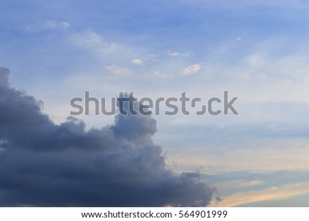 blue sky on evening with cloud on background #564901999