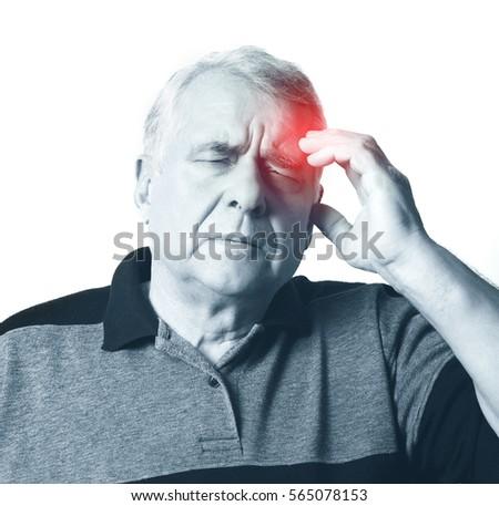 headache. adult man. white background  #565078153
