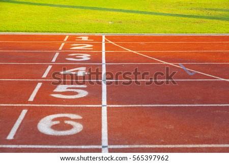running track ,focus at number 2 #565397962