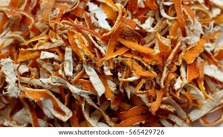 Chopped orange peel texture #565429726