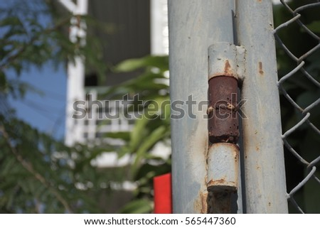 Rusty door hinges #565447360