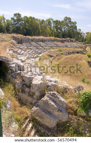 greek theatre in syracuse, sicily #56570494