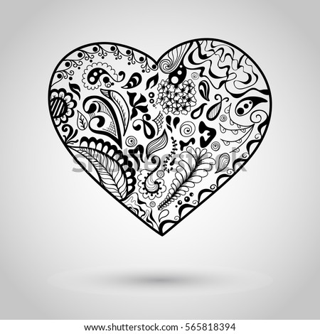 Doodles design of a heart #565818394
