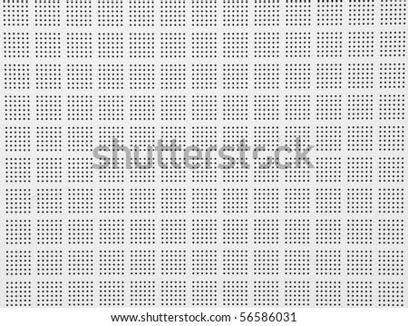 White grid background