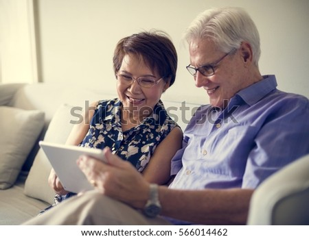 Senior Adult Use Tablet Technology #566014462
