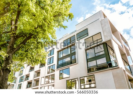 modern cubic residential architecture in Berlin #566050336