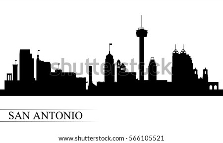 San Antonio city skyline silhouette background, vector illustration