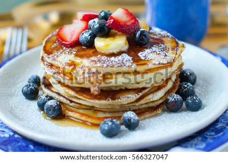 Pancakes Royalty-Free Stock Photo #566327047