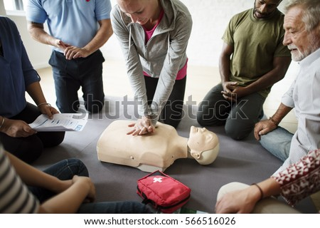 CPR First Aid Training Concept #566516026