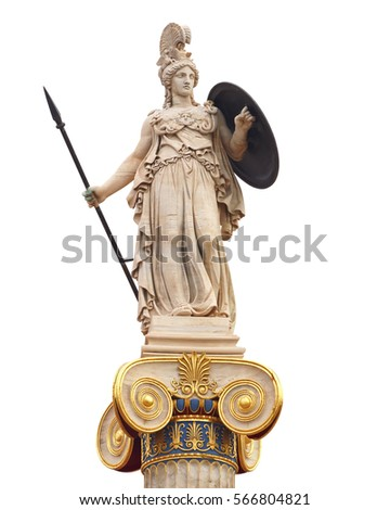 Athena statue, the ancient goddess of philosophy and wisdom #566804821