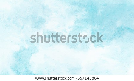 Hand painted watercolor sky and clouds, abstract watercolor background, vector illustration Royalty-Free Stock Photo #567145804