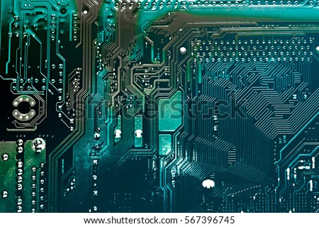 Circuit board. Electronic computer hardware technology. Motherboard digital chip. Tech science background. Integrated communication processor. Information engineering component. #567396745