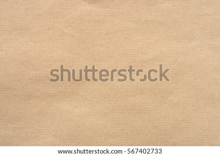 Kraft Paper Texture with horizontal stripes for background. Royalty-Free Stock Photo #567402733
