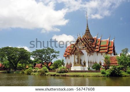 Dusit Grand Palace besides the lake #56747608
