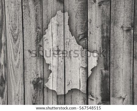 Map of Luxembourg on weathered wood #567548515
