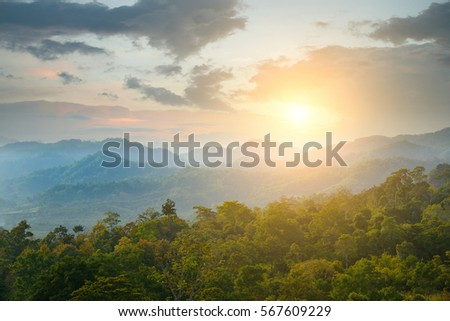 beautiful view of landscape and sunlight #567609229