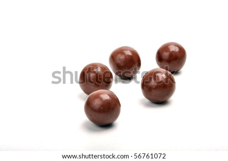 five chocolate balls with rum in it Royalty-Free Stock Photo #56761072
