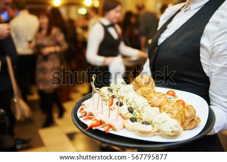 Catering service. waitress on duty #567795877