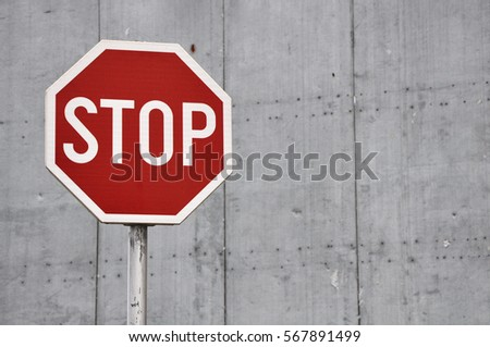 Stop Traffic Sign Royalty-Free Stock Photo #567891499